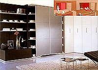 Шкафы-кровати от CLEI. Мебельная выставка SALONE DEL MOBILE 2005.